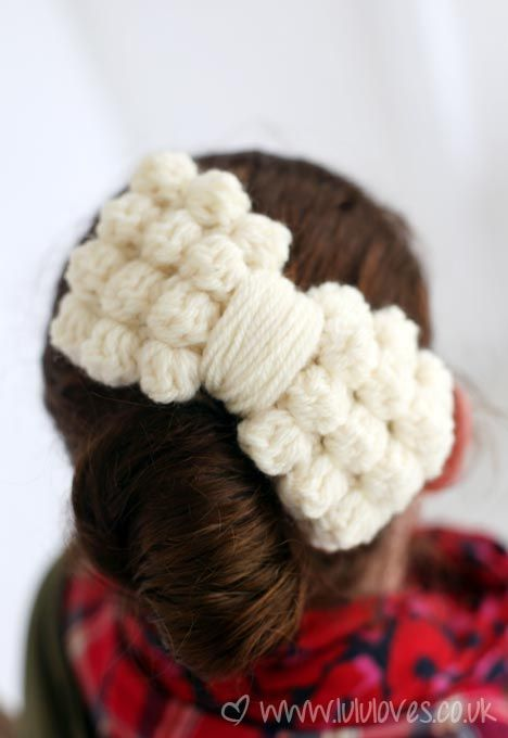 Chunky Crochet Bobble Bow: free pattern | Tiny Textiles | Pinterest ...