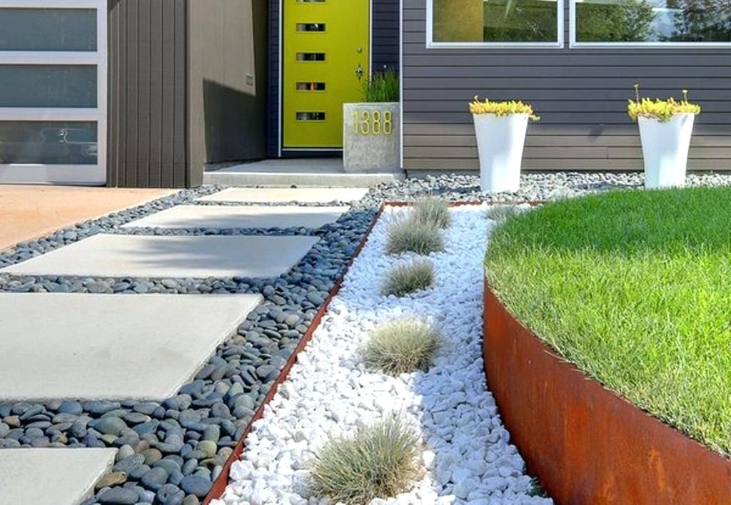 Gravel Front Yard Contemporary Landscaping Ideas For Small Front Front Yard Landscaping Design Modern Landscaping Walkway Landscaping