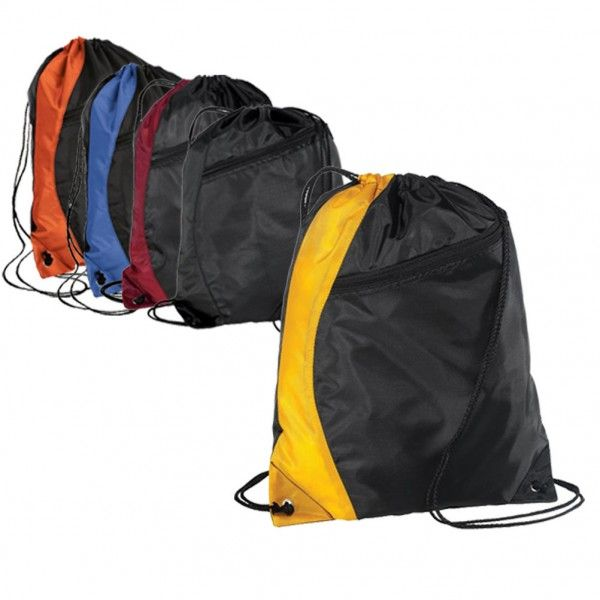 Colorblock Polyester Cinch Pack/Drawstring Bag cheap drawstring ...