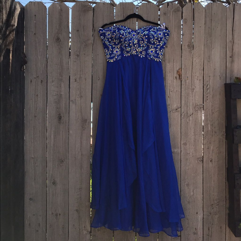 Royal blue cinderella prom dress products pinterest products