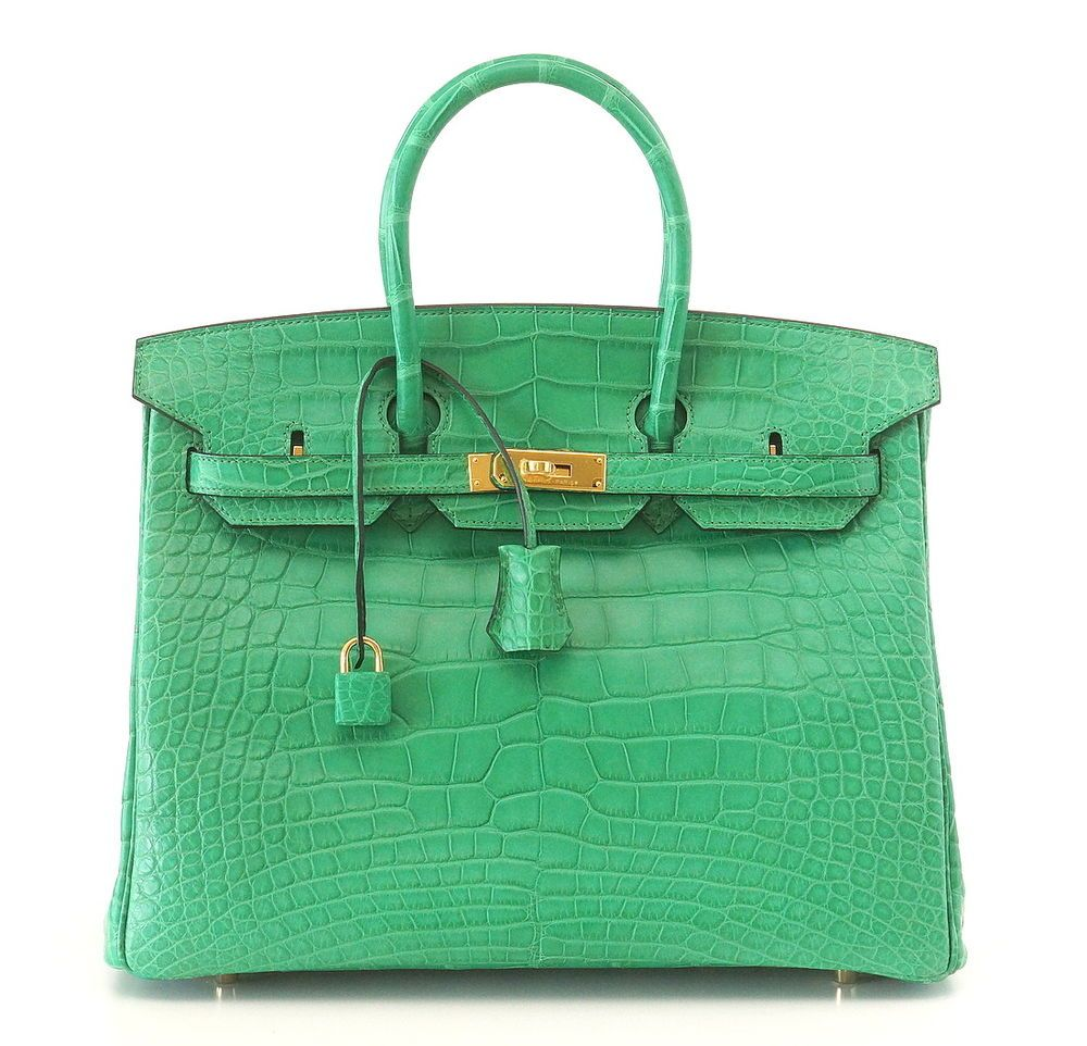 c8442be0433 HERMES BIRKIN 35 Bag Matte Alligator CACTUS gold hardware NEW COLOR  available ebay mightykismet Bolsos Cartera