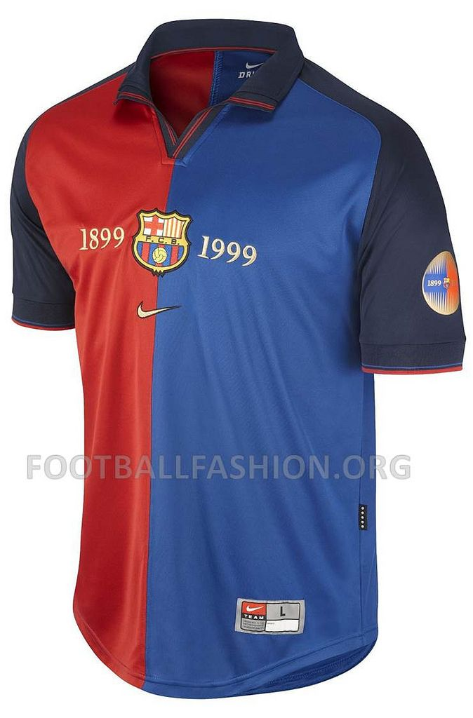 new concept 75468 76905 ... FC Barcelona 1999 Nike Centenary Home Jersey ...