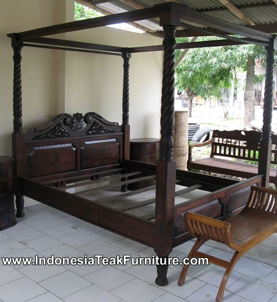Elegant Wooden Bed Furniture From Indonesia Bedroom Furniture Amazing Ideas