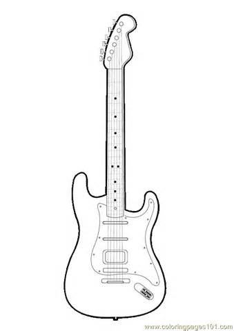 printable coloring pages guitar - photo#4