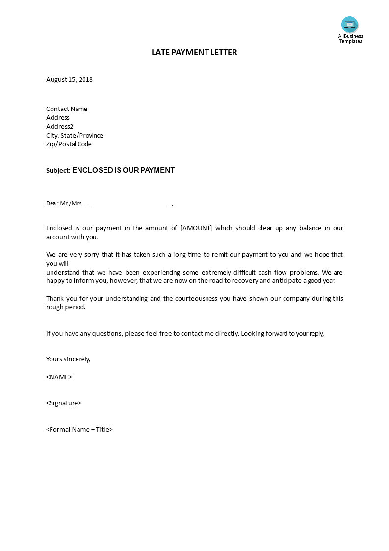 Notification Letter Late Payment Transferred How To Write A Late Payment Letter Download This Late Payment Letter Now Lettering Download Lettering Templates