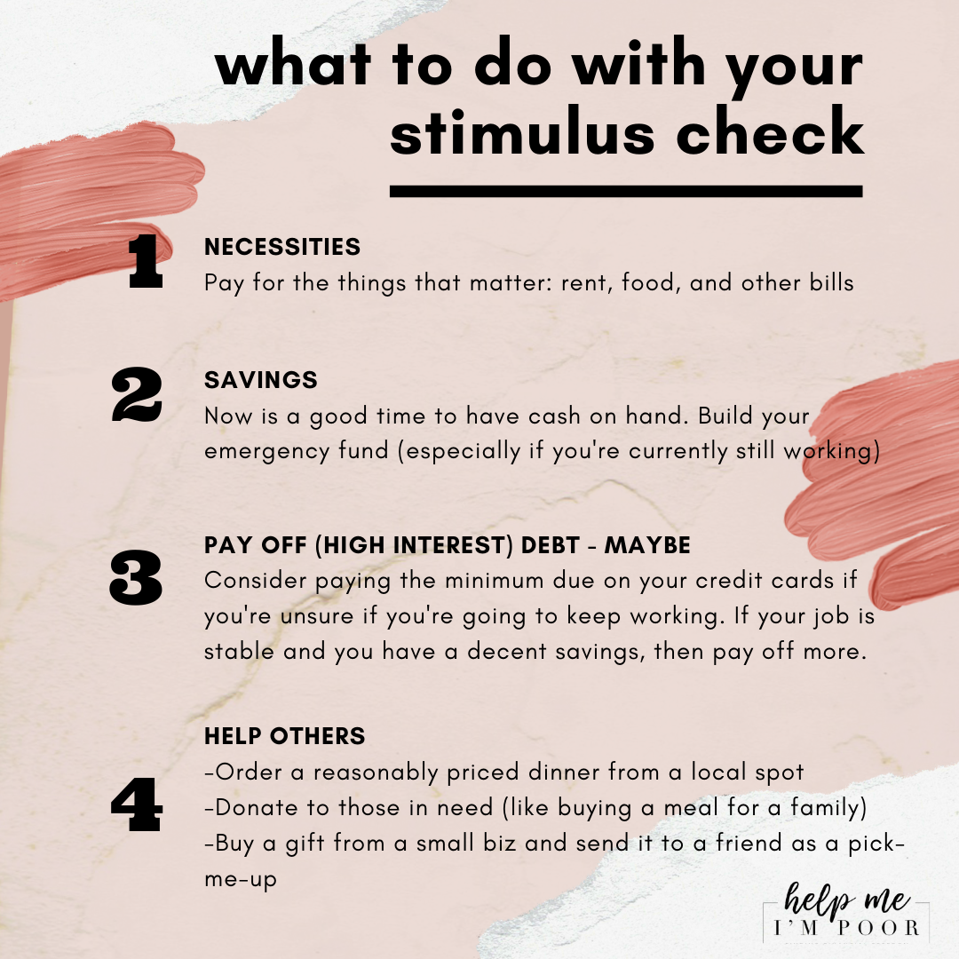 What to do with your stimulus check in 2020 Emergency