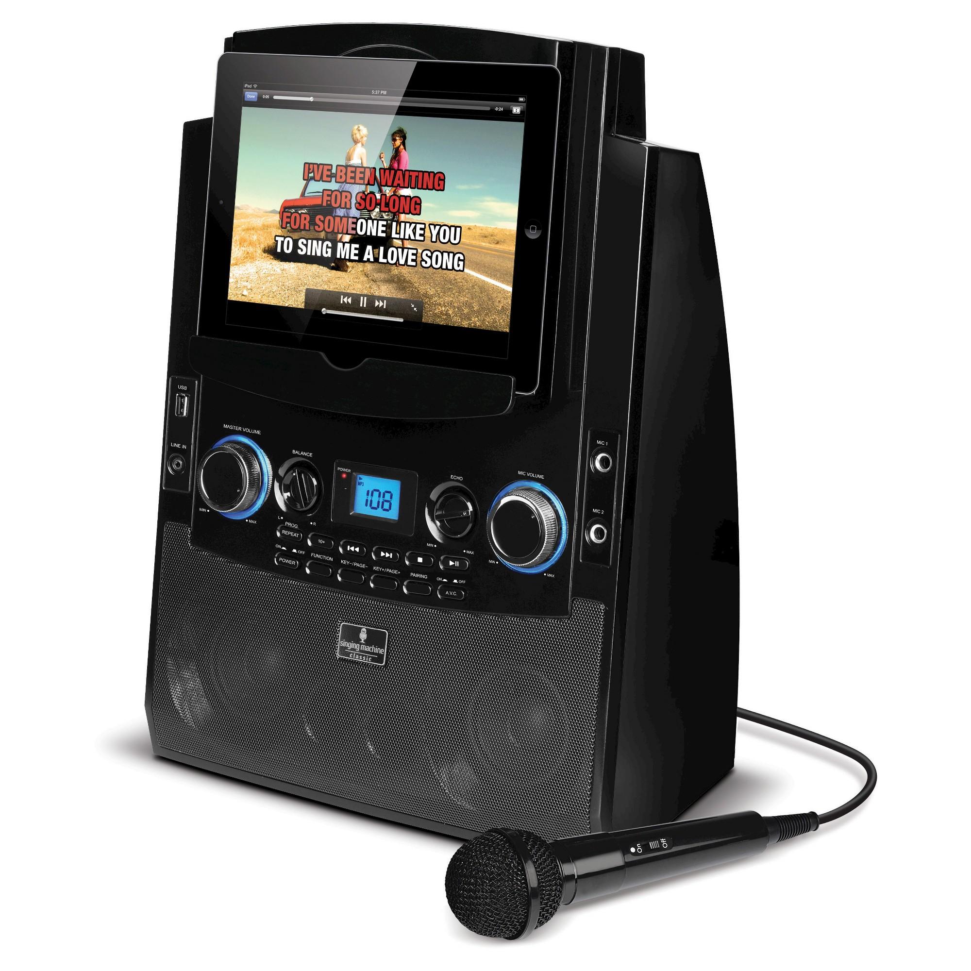 The Singing Machine Bluetooth Karaoke System for iPad