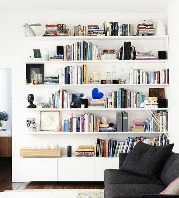 Swoon Home Home Living Room White Bookshelves
