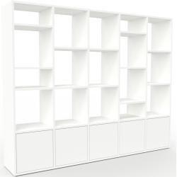 Photo of Wohnwand Weiß – Individuelle Designer-Regalwand: Türen in Weiß – Hochwertige Materialien – 195 x 157