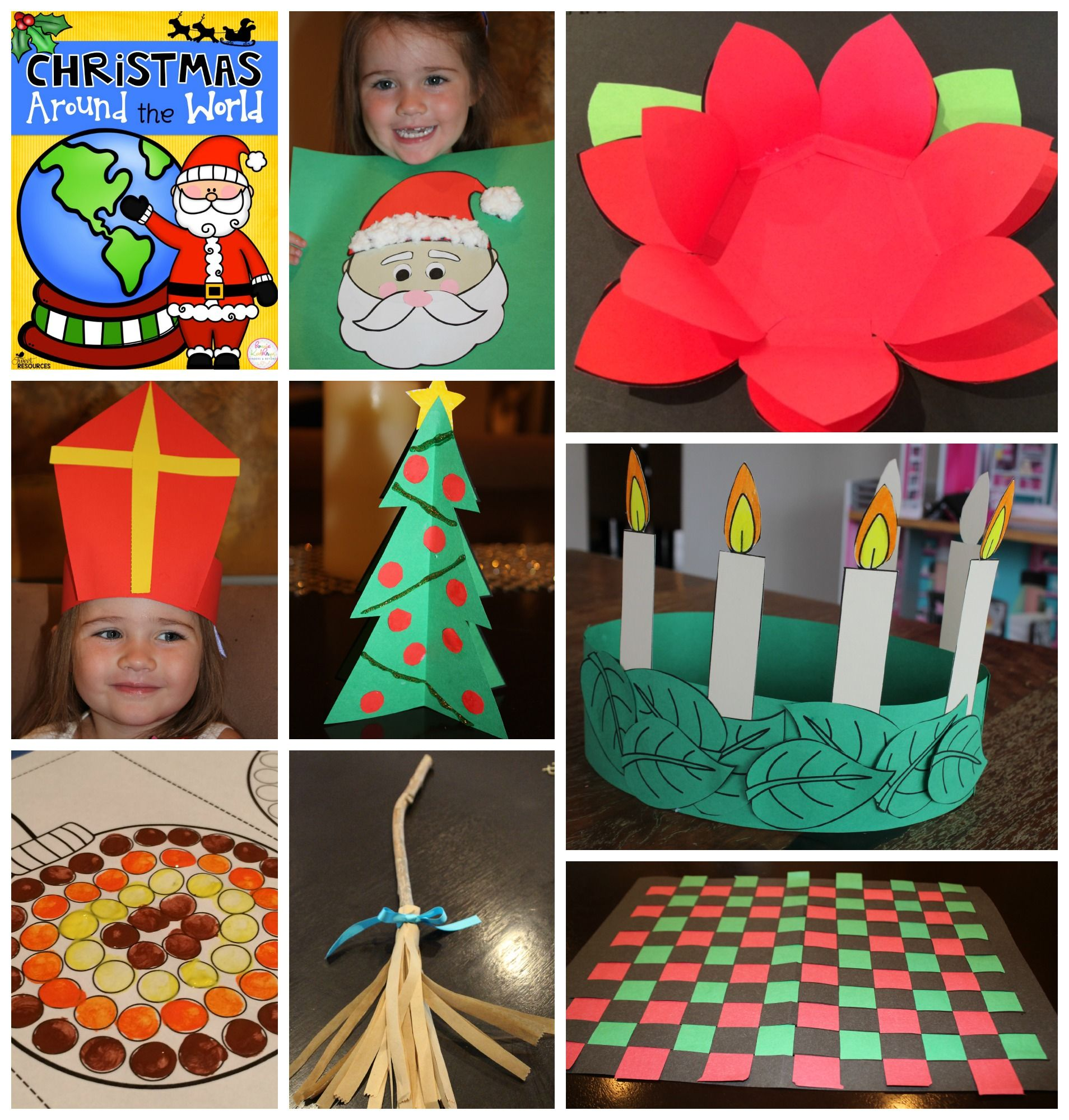 Christmas around the world bundle activities australia for Mexican christmas crafts for kids
