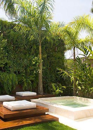 Jacuzzi Outdoor, Outdoor Patios, Outdoor Life, Outdoor Living, Outdoor Ideas,  Outdoor Spaces, Plunge Pool, Vertical Gardens, Pool Spa