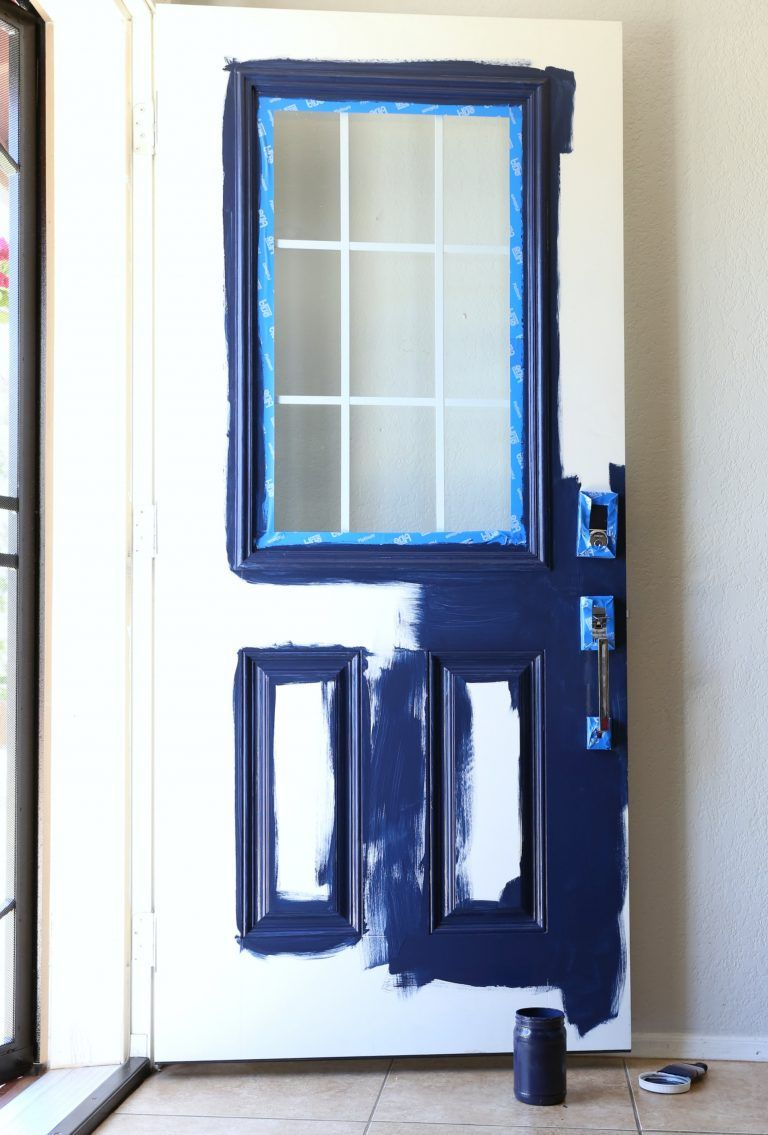 How to paint a front door without removing it front doors doors
