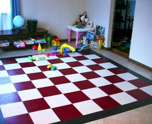 floor for the childrens room creative painted floors for kids rh pinterest com Tile Flooring in Living Room kids room floor mats