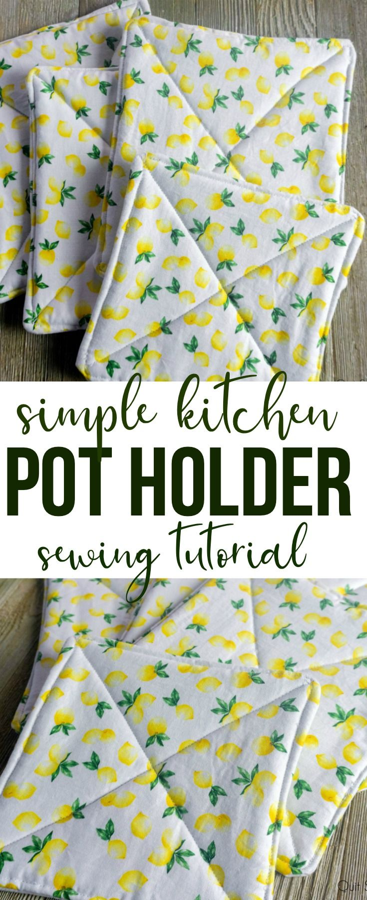 Simple Pot Holder Sewing Tutorial -   18 fabric crafts to sell gift ideas