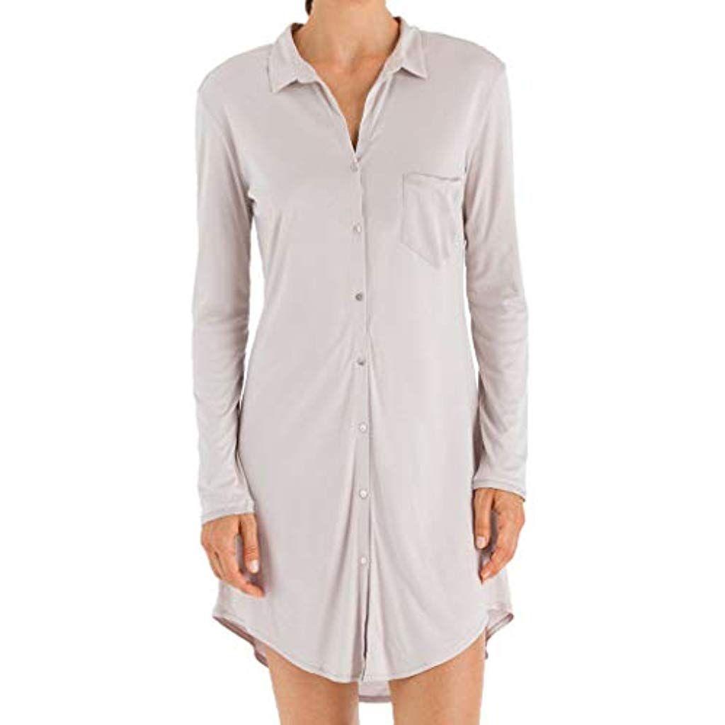 buy popular 7bd25 5b700 Hanro - Grand Central - Damen Nachthemd Boyfriend Shirt ...