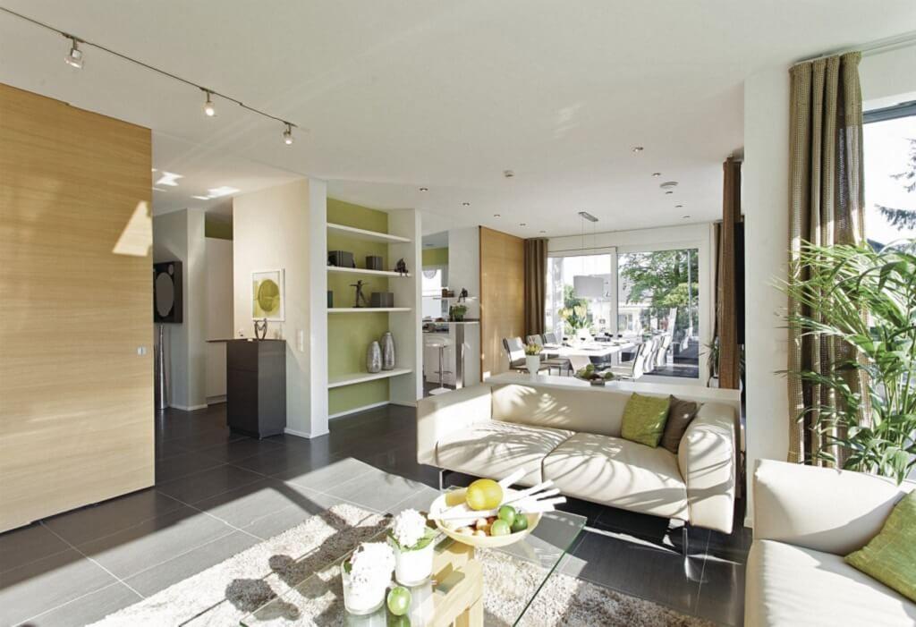 Wohnzimmer Ideen Inneneinrichtung City Life - Haus 250_WeberHaus - wohnzimmer mit offener küche gestalten
