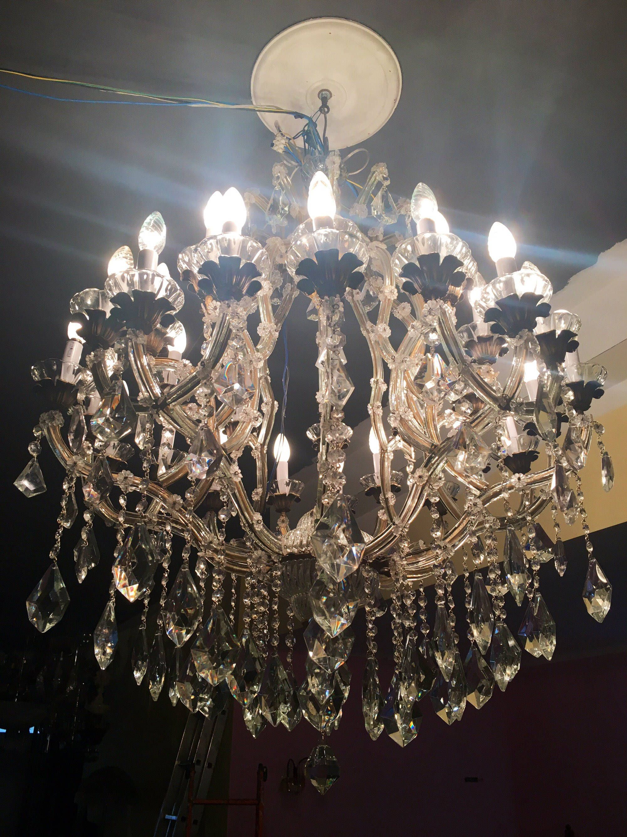 Crystal chandelier crystal chandelier murano chandelier vintage crystal chandelier crystal chandelier murano chandelier vintage maria theresa chandelier wiring comp aloadofball Choice Image