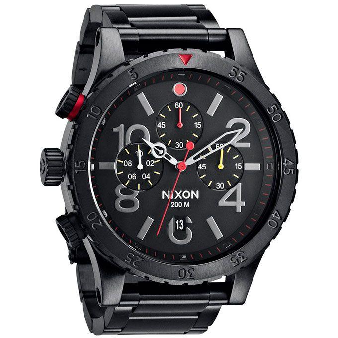 Reloj Nixon 48 20 Chrono All Black Relojes Nixon