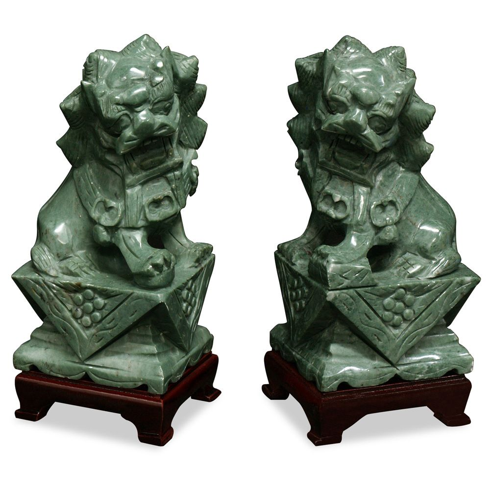 Hand Carved Jade Foo Dogs Foo Dog Hand Carved And Asian Inspired