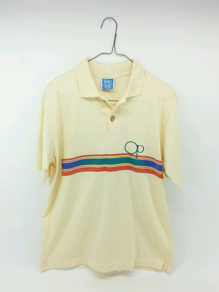 9c95cb3d1 Vintage 70's OP Ocean Pacific Sunwear Striped Polo Shirt Large USA - Surf  Skate #OPOceanPacific #PoloRugby