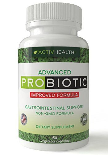 Natural Probiotics Supplement With Enzymes Helps Relieve Gas Digestive Bloating Acid Reflux
