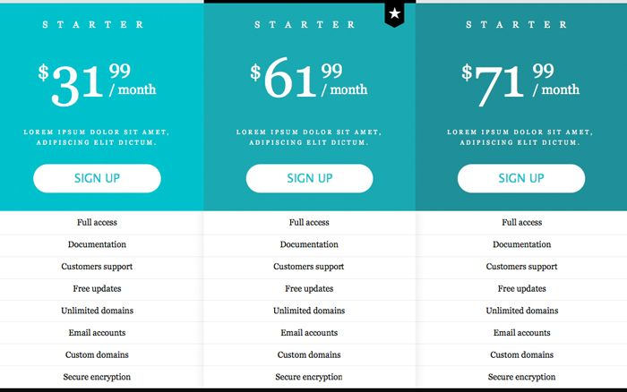 Pricing Table Widget Pricing Table Pinterest Pricing table - comparison grid template
