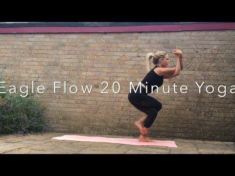 youtube  eagle pose yoga flow
