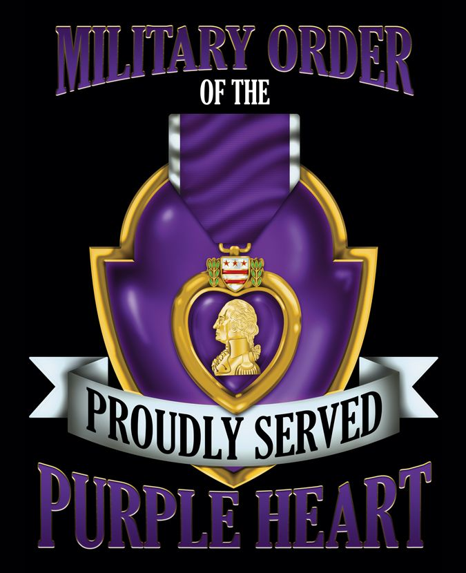 Military Order Of The Purple Heart For The Brave Combat Wounded Purple Heart Medal Purple Heart Purple