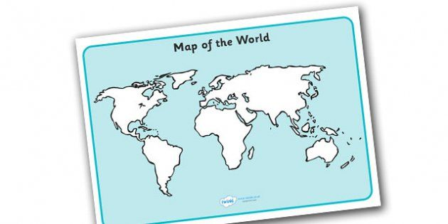 Map of the world sheet map map of the world world atlas a colourful sheet display a map of the world useful for a variety of activity or your geography display gumiabroncs Gallery