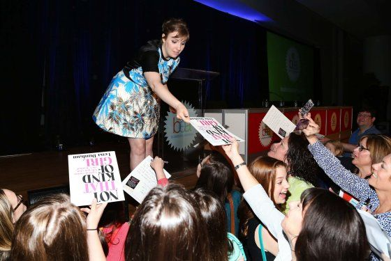 Author Lena Dunham attends day 3 of the 2014 Bookexpo America at The Jacob K. Javits Convention Center on May 31, 2014 in New York City.