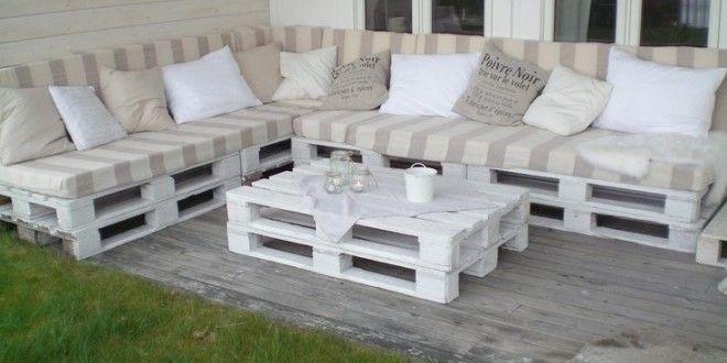 Terraza hecha con palets y con estilo | Muebles con palets | Sofa ...