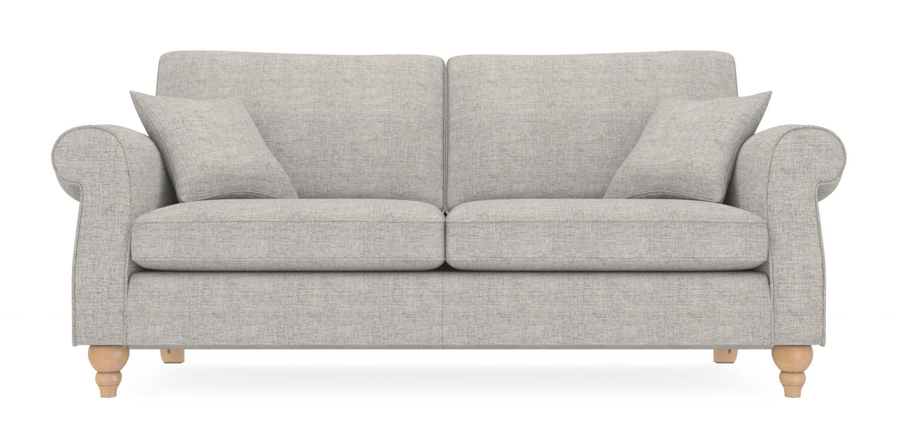 Buy Ashford Large Sofa (3 Seats) Textured Weave Light Grey LowTurned ...