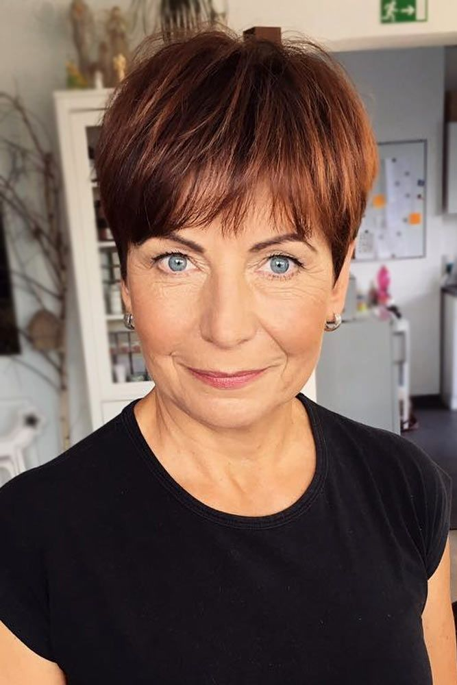 70 Stylish Short Hairstyles for Women Over 50 #shortpixie