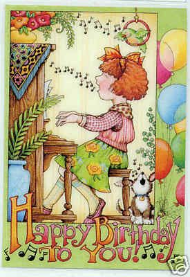 Happy birthday mary engelbreit pinteres happy birthday you handcrafted refrigerator magnet art mary engelbreit bookmarktalkfo Image collections