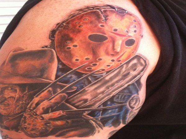 Jason Voorhees And Freddy Krueger Tattoo