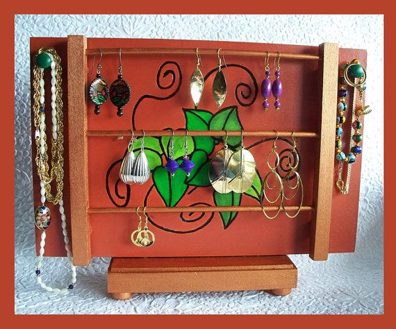 Tabletop Jewelry Holder by RFColorfulCreations on Etsy 2500