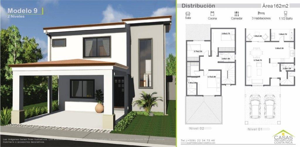 162m2 dise o 9 casas peque as pinterest casas de dos for Disenos de casas de dos pisos pequenas