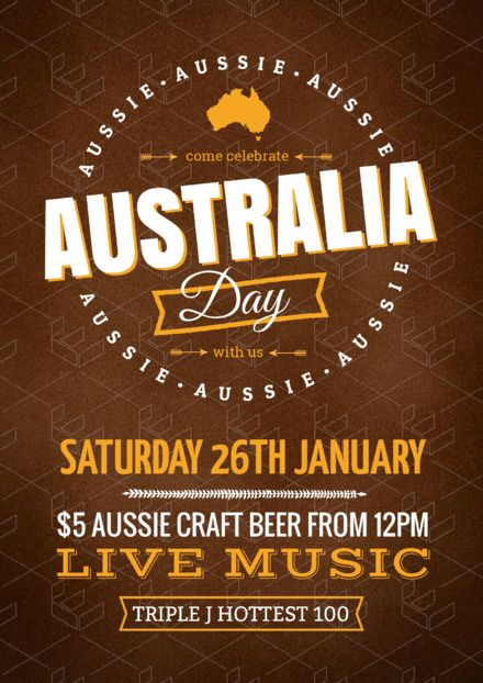 40901359120 Australian Day Templates, DIY Design, Australia Day Posters and Flyers -  Live Music Design, Event planning and marketing