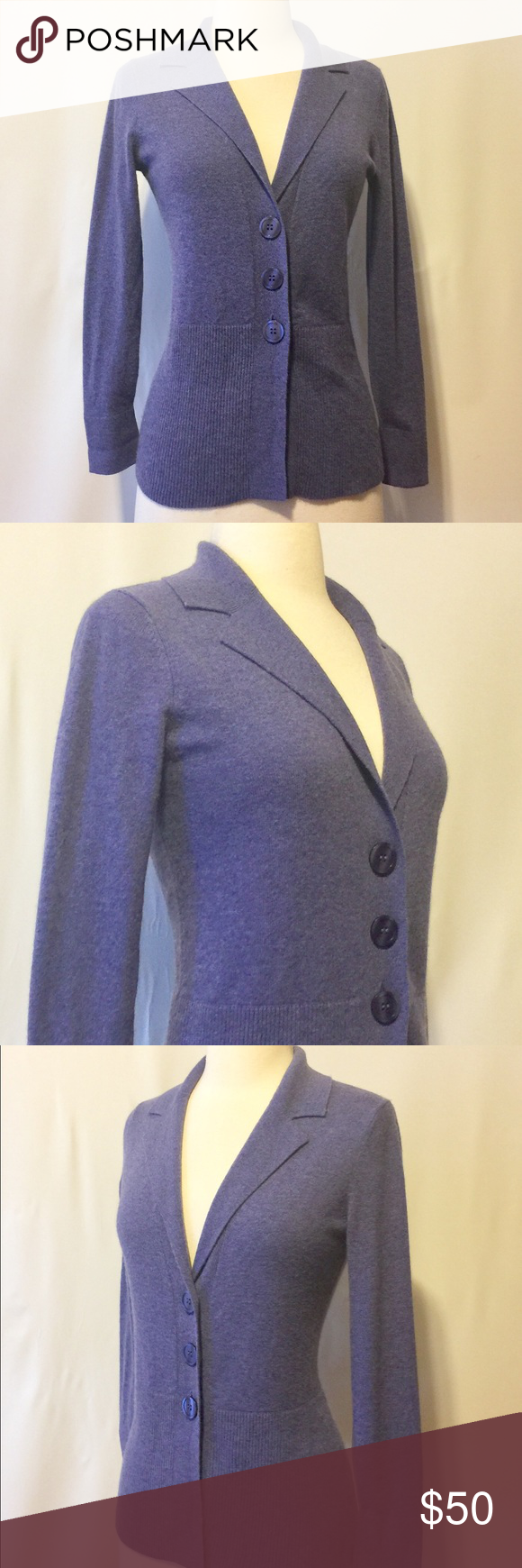 JONES Lavender Cashmere Cardigan Sz. PS | Ps, Cashmere and Lavender