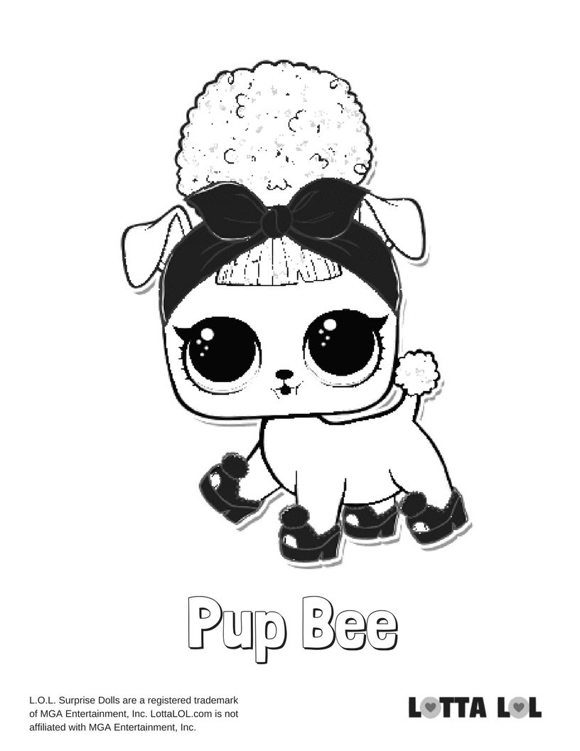 Pup Bee Coloring Page Lotta Lol My Little Pony Coloring Bee Coloring Pages Unicorn Coloring Pages