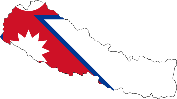 File Flag Map Of Nepal Png Wikimedia Commons Flag Country Flags Map