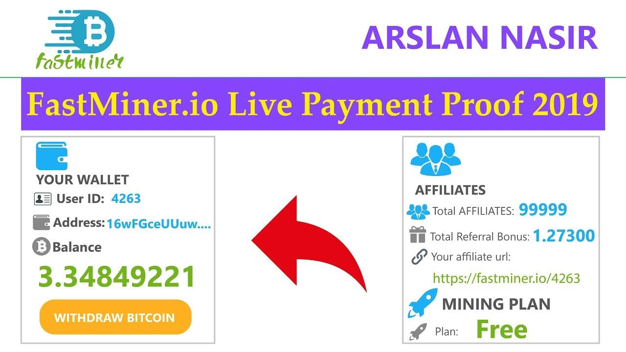 Fastminer io Free Bitcoin Cloud Mining Site Live Withdrawal Payment
