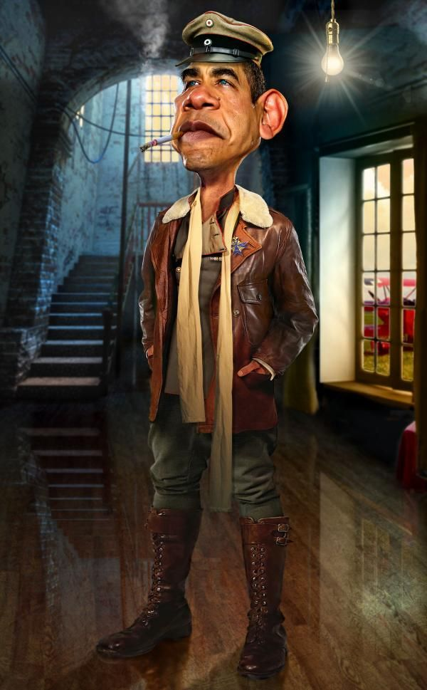The black baron - Caricature Illustrations by Rodney Pike   Art and Design