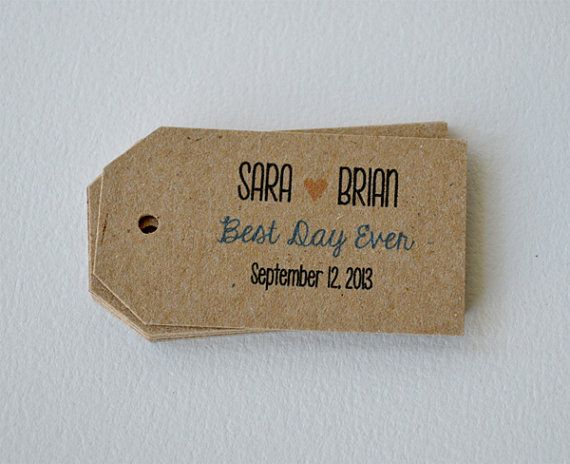 100 Kraft Brown Small Label Tags