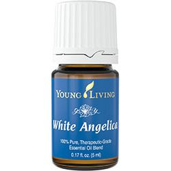 White Angelica™ is a calming and soothing blend that encourages feelings of protection and security. It combines oils used during ancient times to enhance the body's aura, which brings about a sense of strength and endurance. Many people use it as protection against negative energy. White Angelica works great applied to shoulders.    https:www/youngliving.org/azcritter