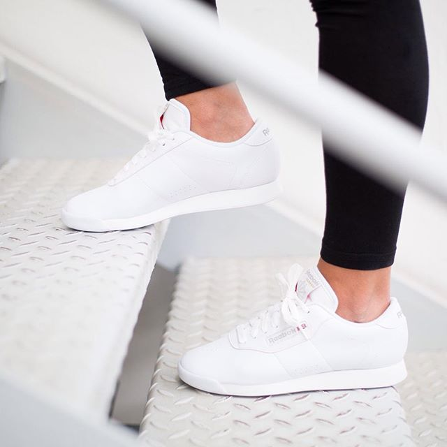 The Classic // Reebok White Princess sneakers. Photo: 43einhalb.com | SHOES  | Pinterest | Reebok, Princess and Trainers