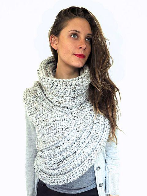 Huntress Vest pattern by Alexandra Tavel | Crochet Scarves - Cowls ...