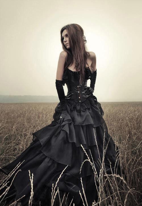 69ea16b465 Sweetheart Black Gothic Wedding Dresses Sleeveless A Line Halloween Wedding  Gowns Black Wedding Dresses - Alternative Measures - same as pic black   6  - 2