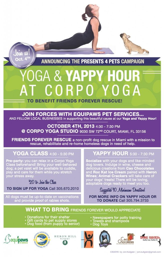 You Coming Join Us At Our Yoga And Yappy Hour Fundraiser For Friends Forever Rescue On October 4 Dog Adoption Event Dog Fundraiser Animal Shelter Fundraiser