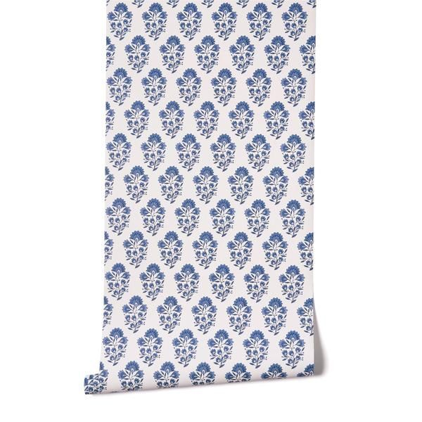 Hand-drawn Block Prints In Gorgeous Shades Of Blues On A